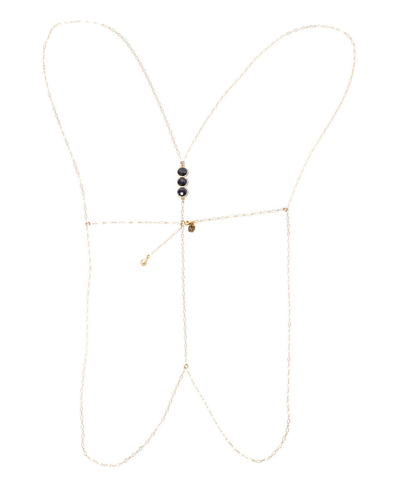 Moonshine Body Chain - Onyx