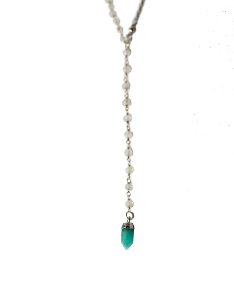 Walk On Water Rosary | Silver, Moonstone + Amazonite