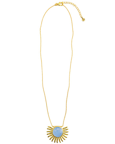 Cellini Crescent Necklace | Moonstone