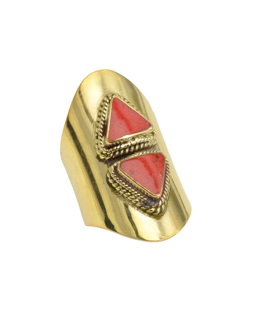 Pyramid Ring | Gold