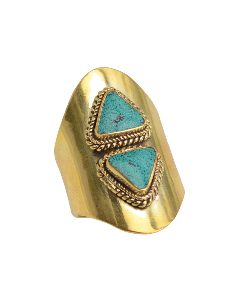 Pyramid Ring | Turquoise