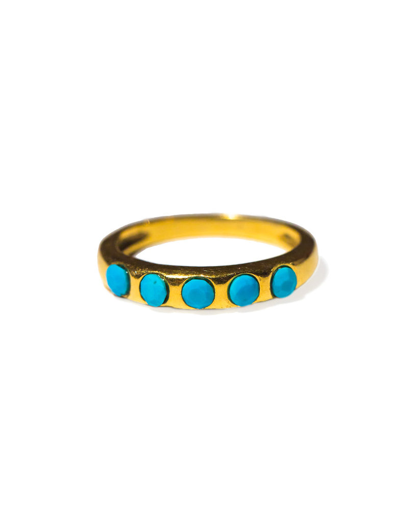 With the Band Ring | Turquoise