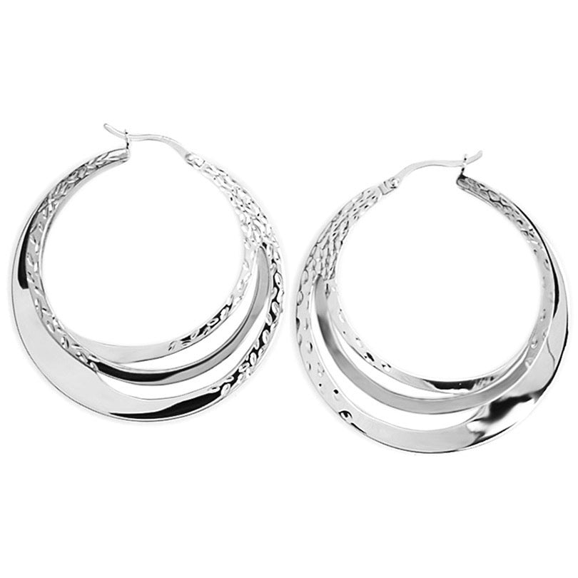 Sculpted Hoops