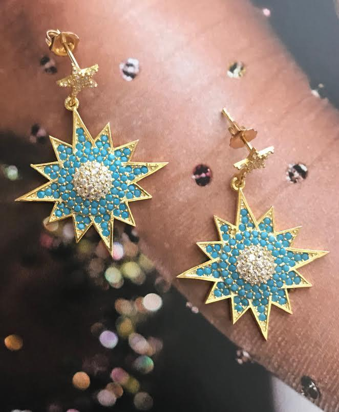 Serious Statement Earrings | Turquoise