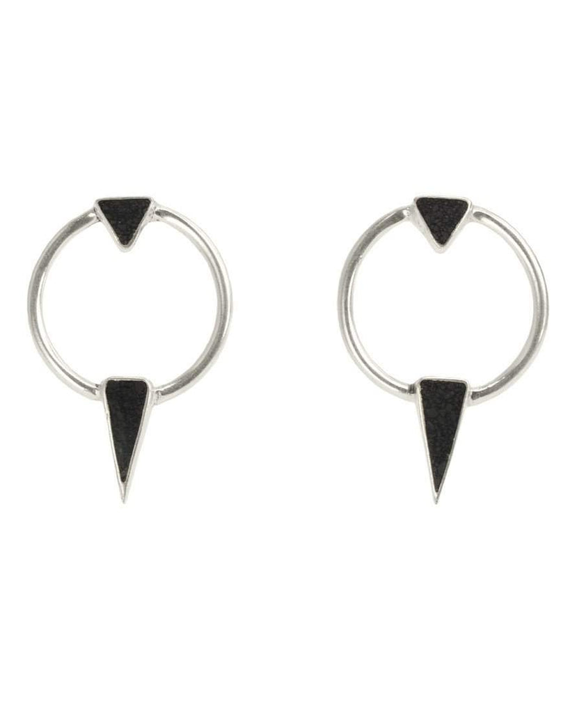 Summer Moon Earrings - Onyx
