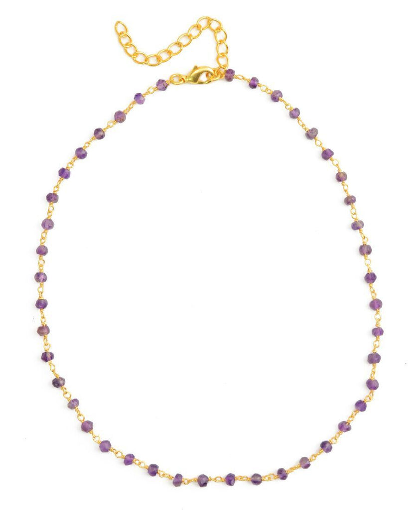 Floating Choker | Amethyst