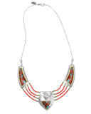 Wild Heart Necklace - Coral