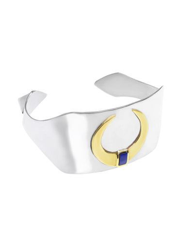 Renaissance Rectangle Cuff | Lapis