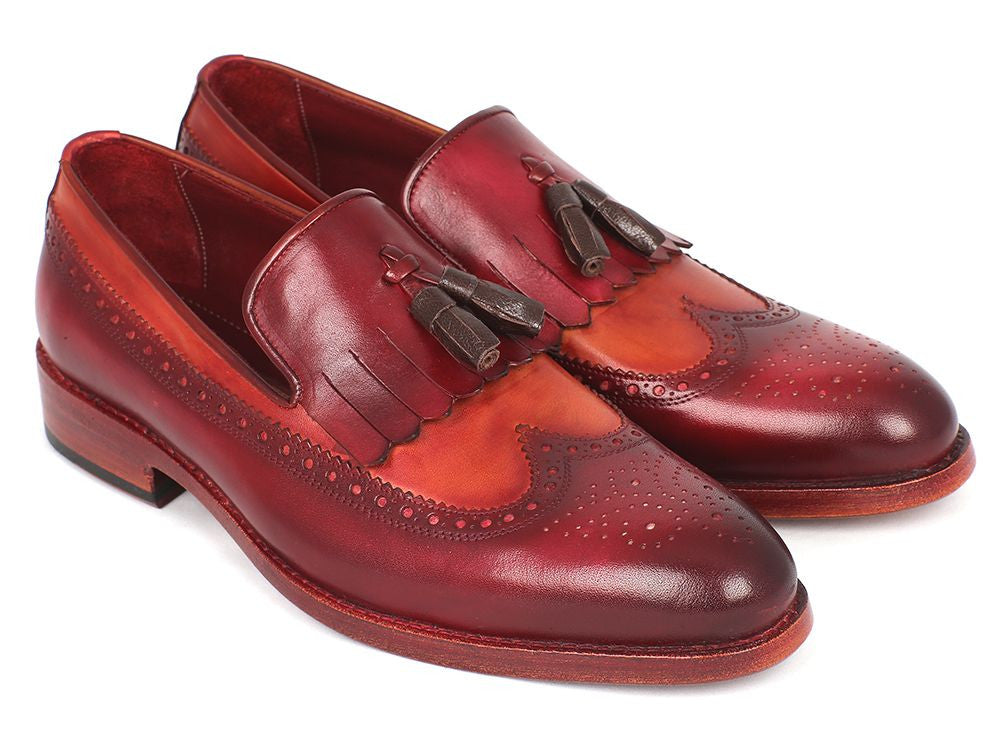 Paul Parkman Kiltie Tassel Loafer Tobacco & Bordeaux (ID#KT64CB)
