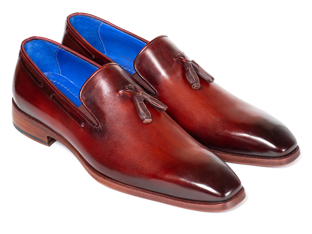 Paul Parkman Men's Tassel Loafer Garnet Brown (ID#5141GBRW)