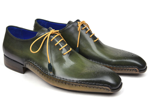 Paul Parkman Opanka Construction Oxfords Green (ID#86A5-GRN)