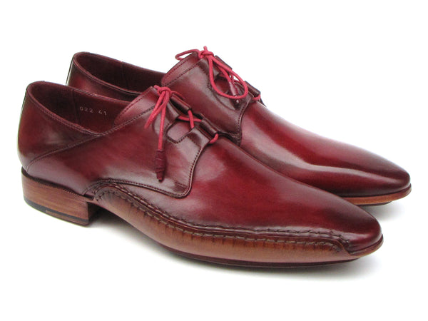 Paul Parkman Ghillie Lacing Handsewn Shoes Burgundy (ID#022-BUR)