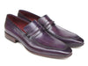 Paul Parkman Men's Purple Loafers Handmade Slip-On Shoes (ID#068-PURP)
