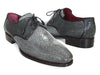 Paul Parkman Men's Full Genuine Stingray Upper Goodyear Welted Derby Shoes For Men (ID#84R35)