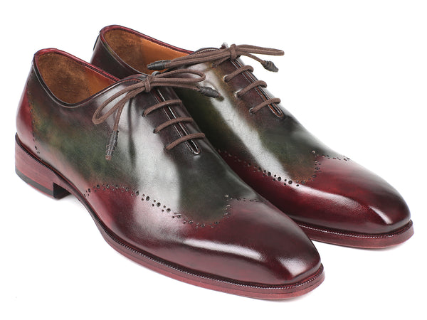 Paul Parkman Bordeaux & Green Wingtip Oxfords (ID#097YL63)