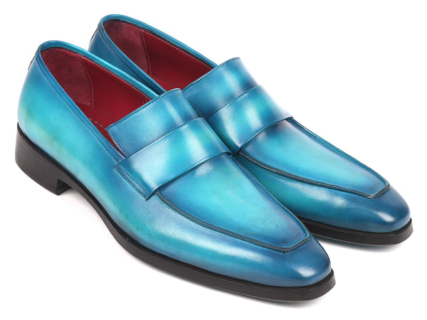Paul Parkman Men's Loafers Turquoise (ID#093-TRQ)