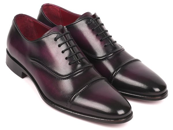 Paul Parkman Men's Cap-Toe Oxfords Purple (ID#077-PRP)