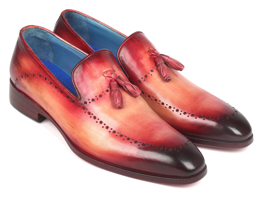 Paul Parkman Men's Tassel Loafer Burgundy (ID#66T82-BUR)