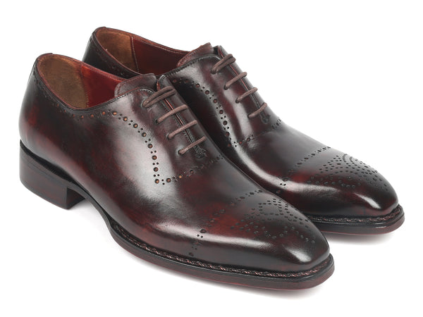 Paul Parkman Dark Bordeaux Goodyear Welted Oxfords (ID#56BRD83)