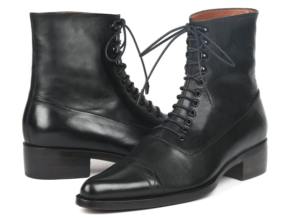 Paul Parkman Men's Goodyear Welted Boots Black Leather (ID#CW477-BLK)