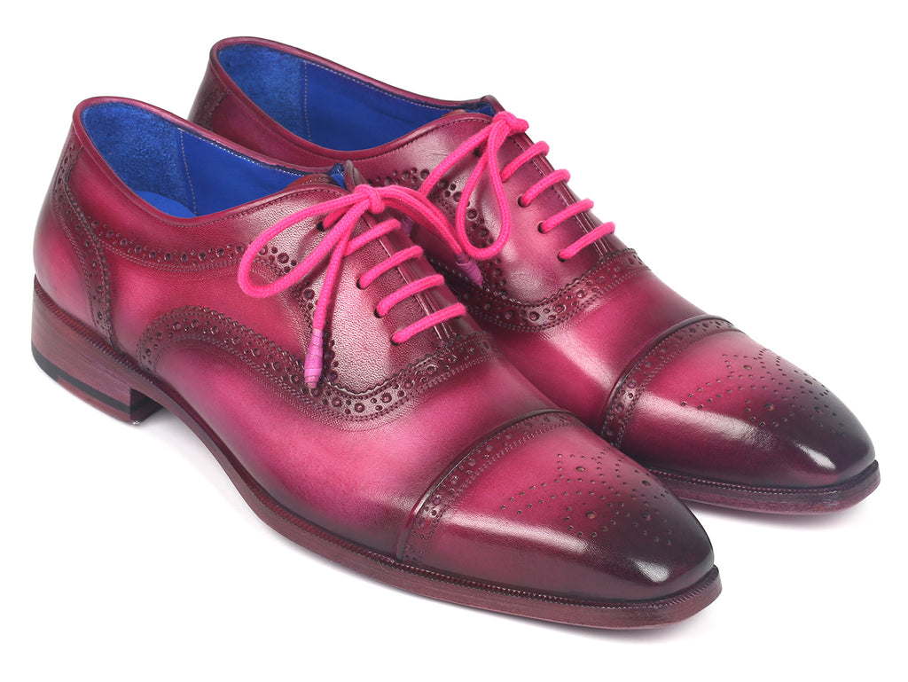 Paul Parkman Men's Captoe Oxfords Fuxia (ID#024-FUX)