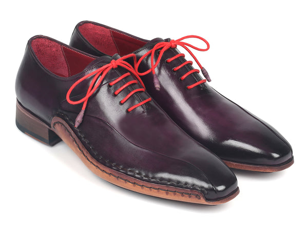 Paul Parkman Purple Leather Oxfords Side Hand-Sewn (ID#018-PRP)