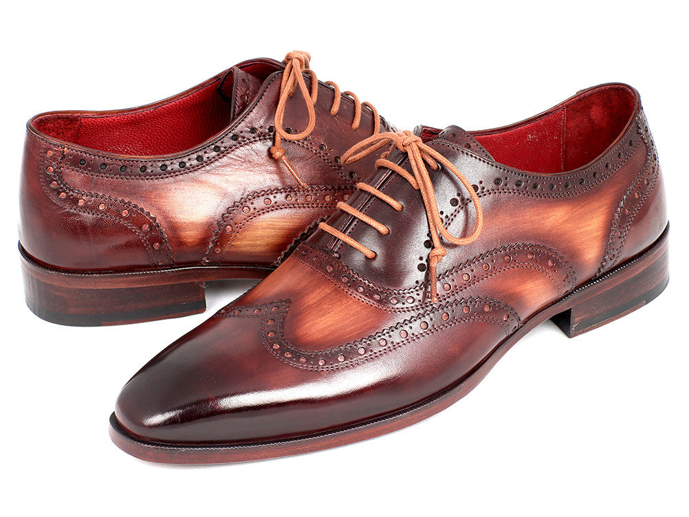 Paul Parkman Men's Two Tone Wingtip Oxfords (ID#PP22TX54)