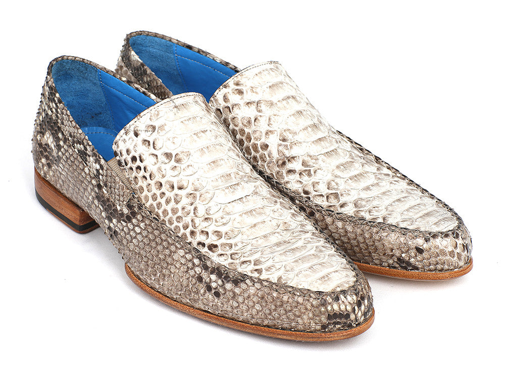 Men's Natural Genuine Python Loafers Shoes (ID#11NAT78)