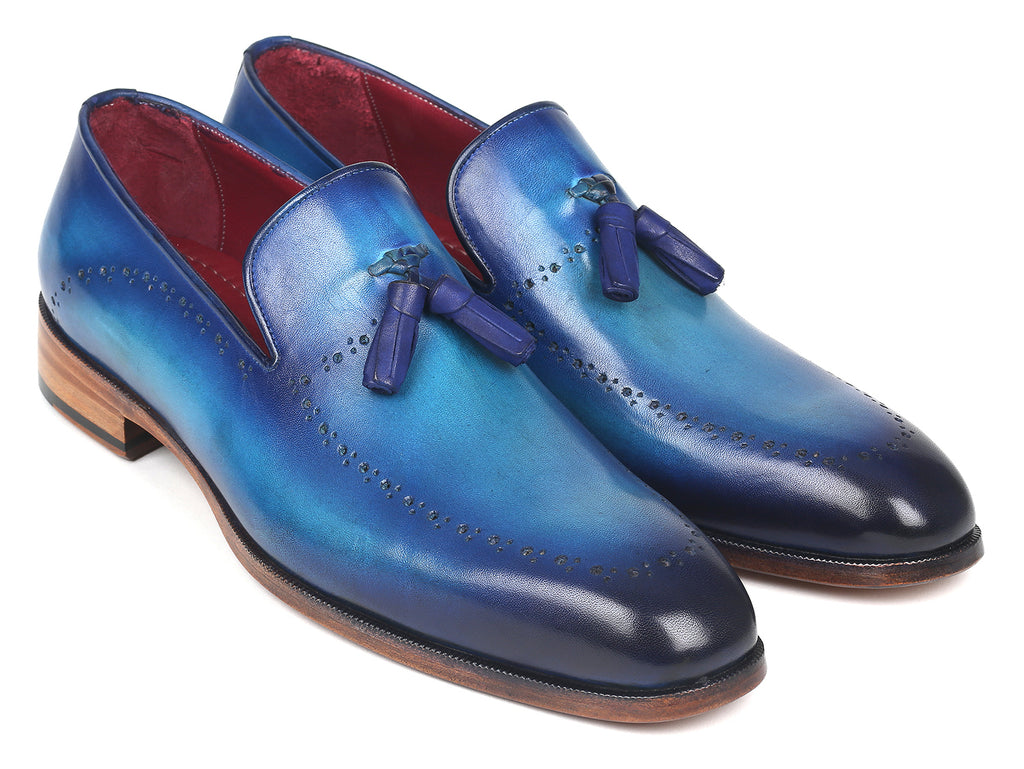 Paul Parkman Men's Tassel Loafer Blue (ID#66T82-BLU)