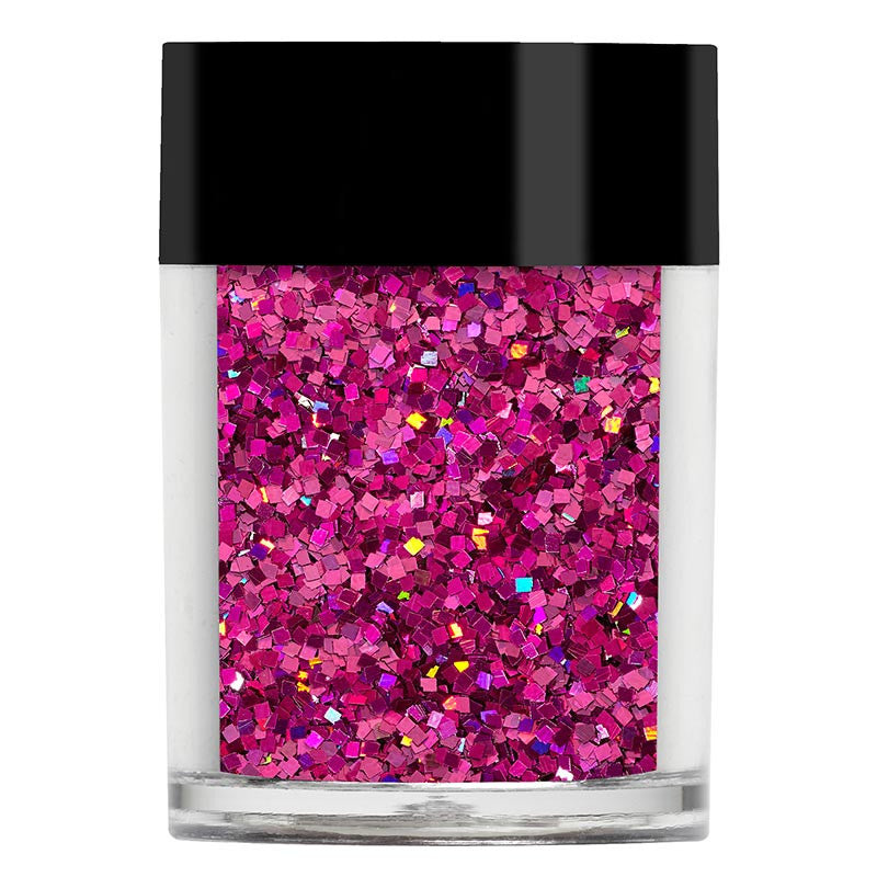 Bright Pink Holo Squares