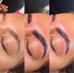 Brow Lamination & Tint GOALS 👊🏽⁠⠀ BEFORE - DURING - AFTER by @browsby_ashleigh 🙌🏼⁠⠀