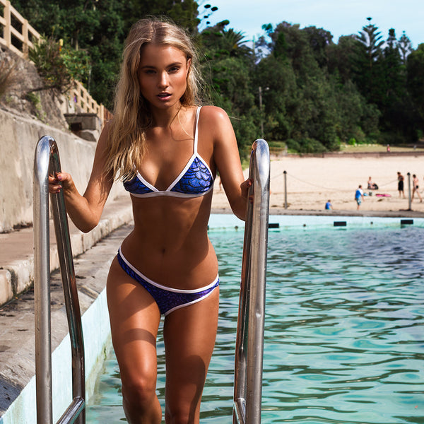 Tri Bikini Top in Royal