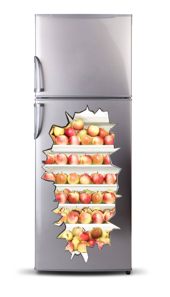 Adhesive fridge vinyl 3D - Apple