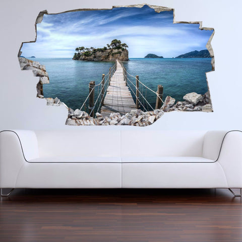 3D Bed Headboard Wall decal - Island