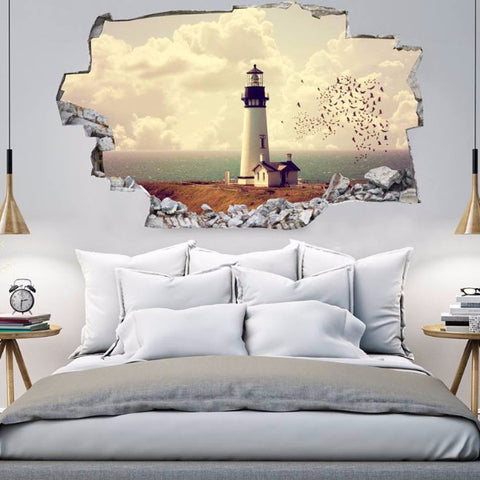 Beach Decals | Beach Wall Stickers | Vinyl 3d | CAB.190
