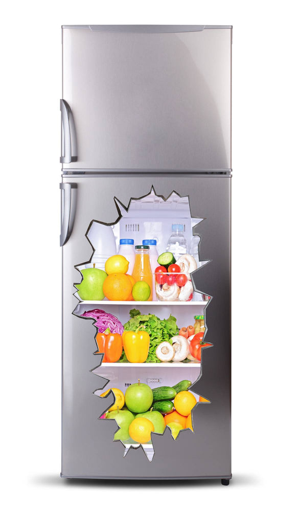 Adhesive fridge vinyl 3D  - Fruit