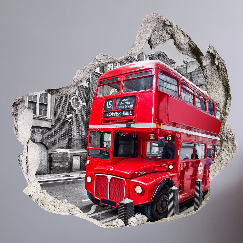 BROKEN WALL 3D - LONDON BUS - AMAII.12