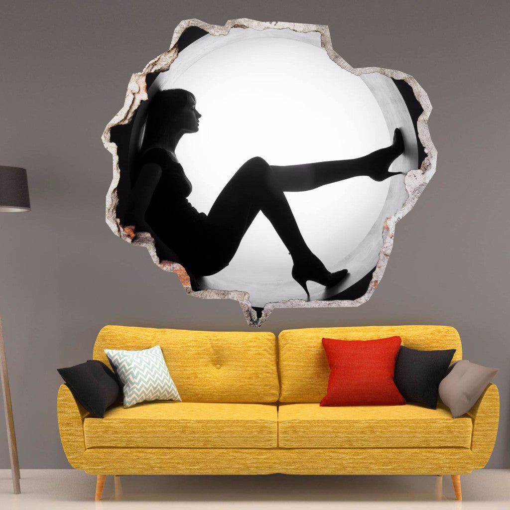 Woman Wall Stickers | Broken Wall Decals | AMAIII.100