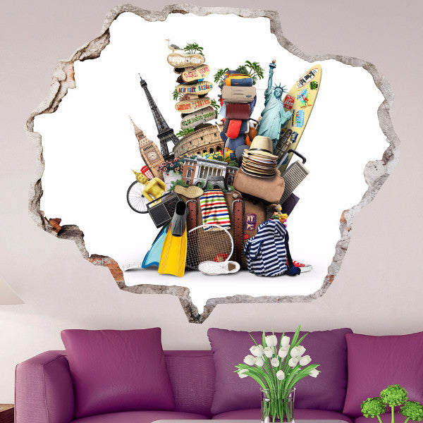 Europe Wall Stickers | Broken Wall Decals | AMAIII.110