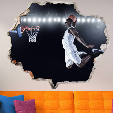 Basketball Wall Stickers | Broken Wall Decals | AMAIII.112