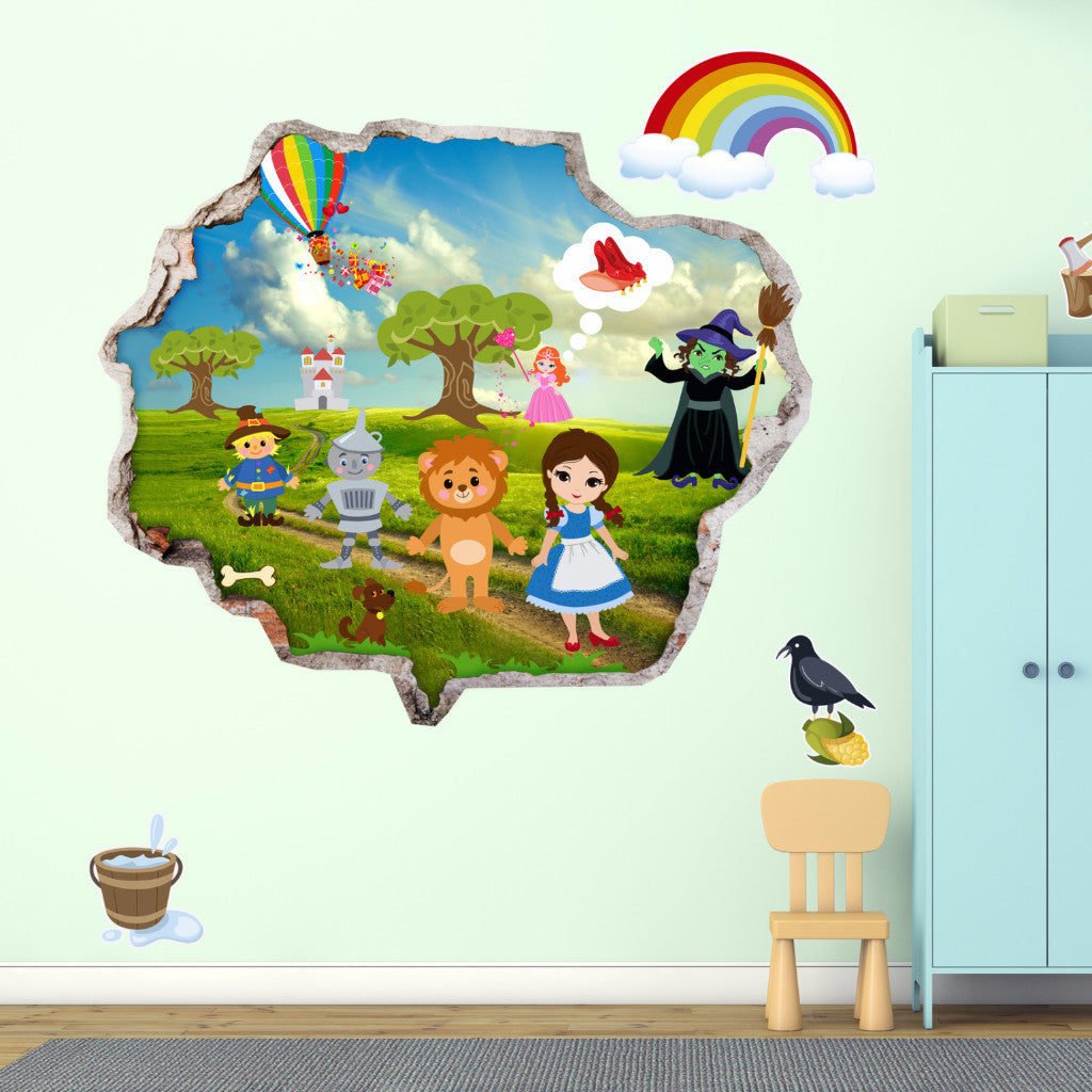 The Wizard Of Oz Wall Stickers | Kids Wall Decals | AMAIII.82