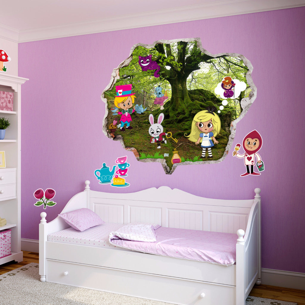 Alice's Adventures in Wonderland Wall Stickers | Kids Wall Decals | AMAIII.85