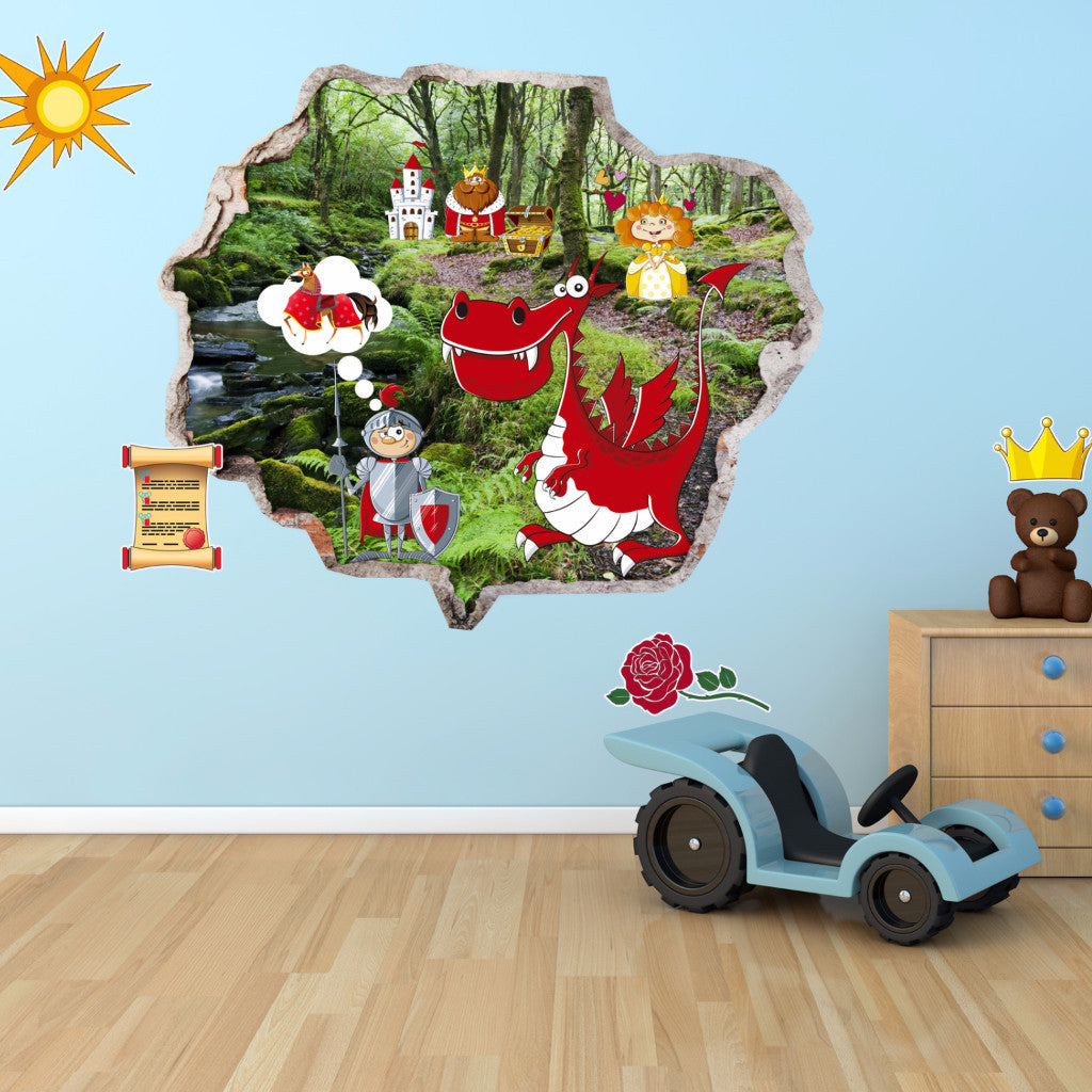 Saint George Wall Stickers | Kids Wall Decals | AMAIII.89