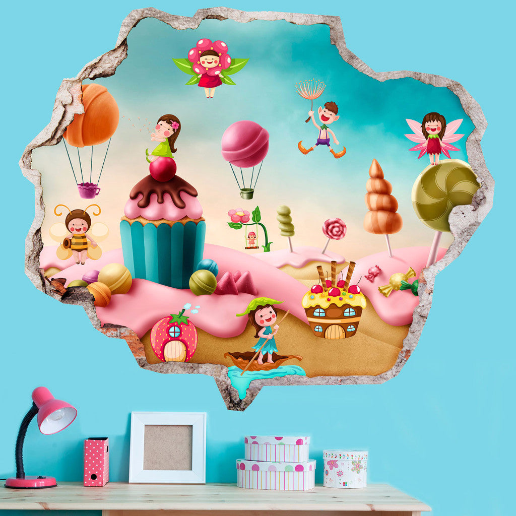 Broken Wall Stickers 3D Kids - Sweet