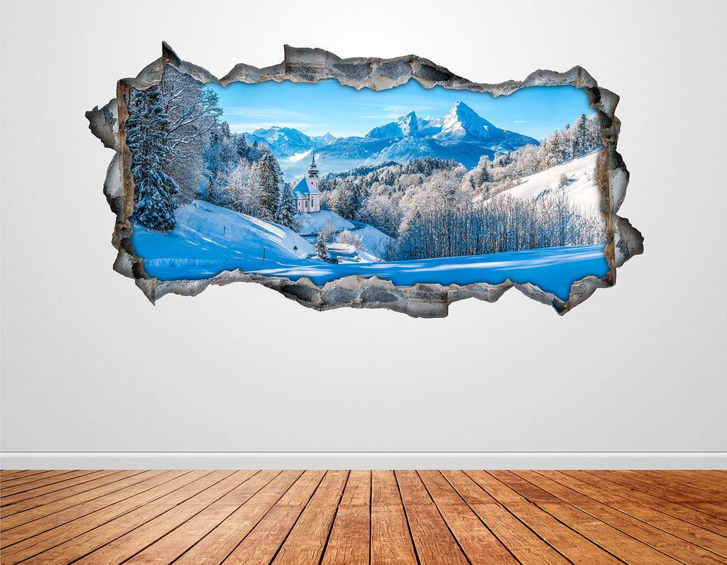 Snow Wall Decals | Snow Wall Stickers | CAB.256