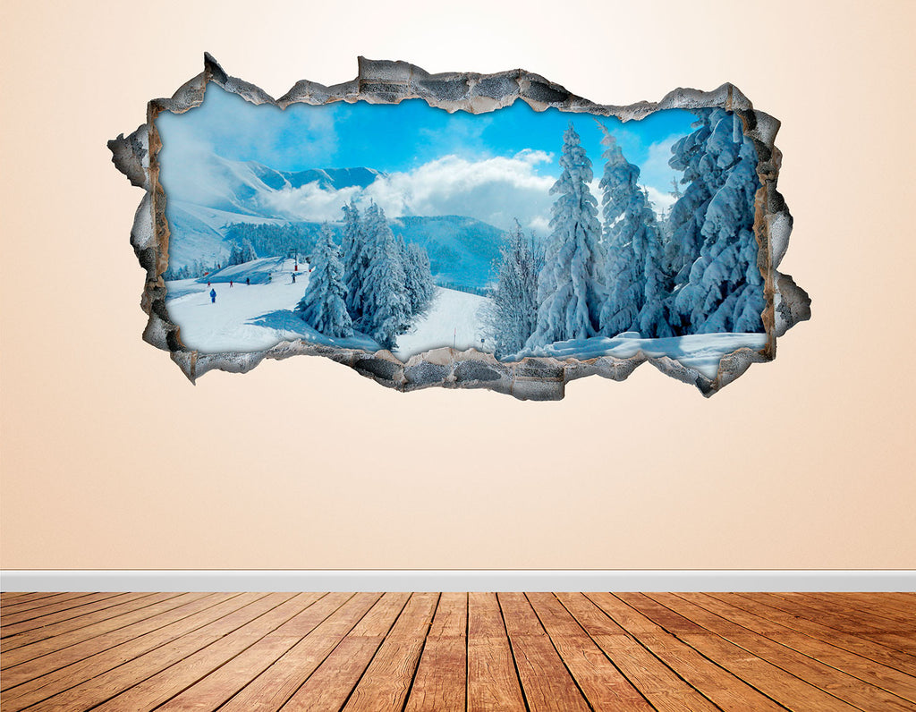 Snow Wall Decals | Snow Wall Stickers | CAB.257
