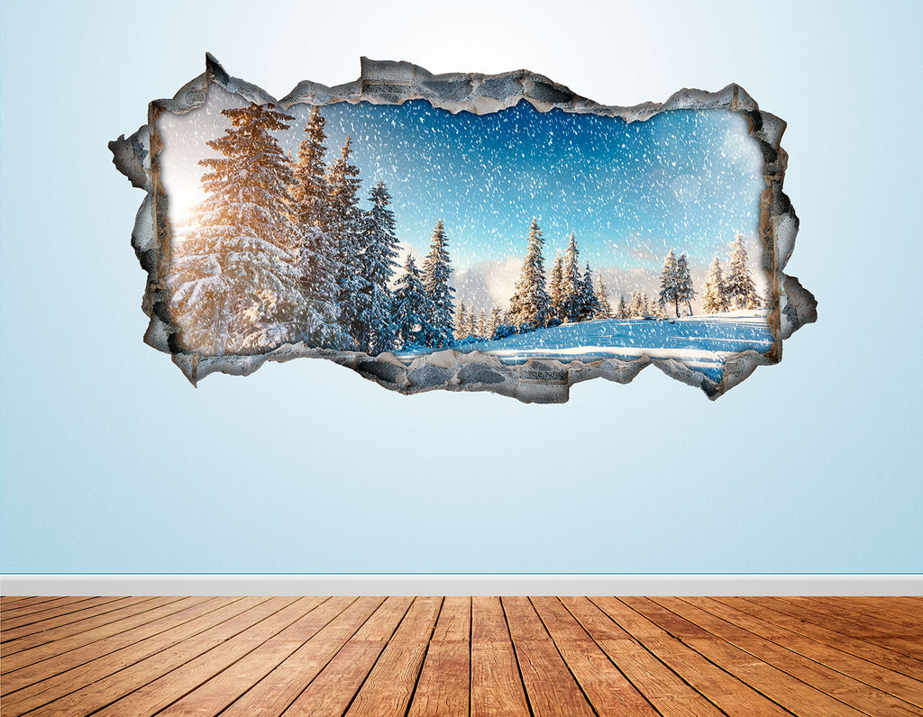Snow Wall Decals | Snow Wall Stickers | CAB.258