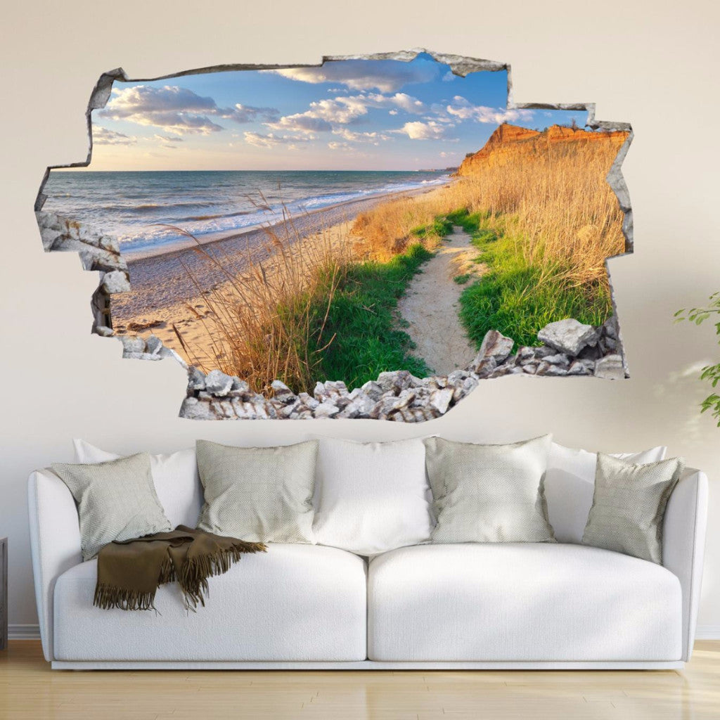 Beach wall decals beach wall stickers vinyl 3d cab241 beach wall decals beach wall stickers vinyl 3d cab241 amipublicfo Image collections