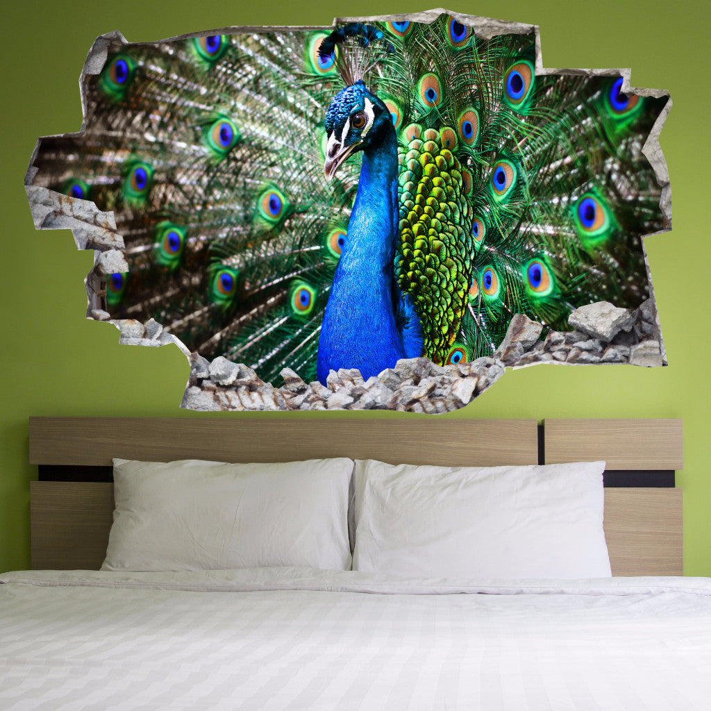 Peacock Wall Decals | Peacock Wall Stickers | Vinyl 3d | CAB.111