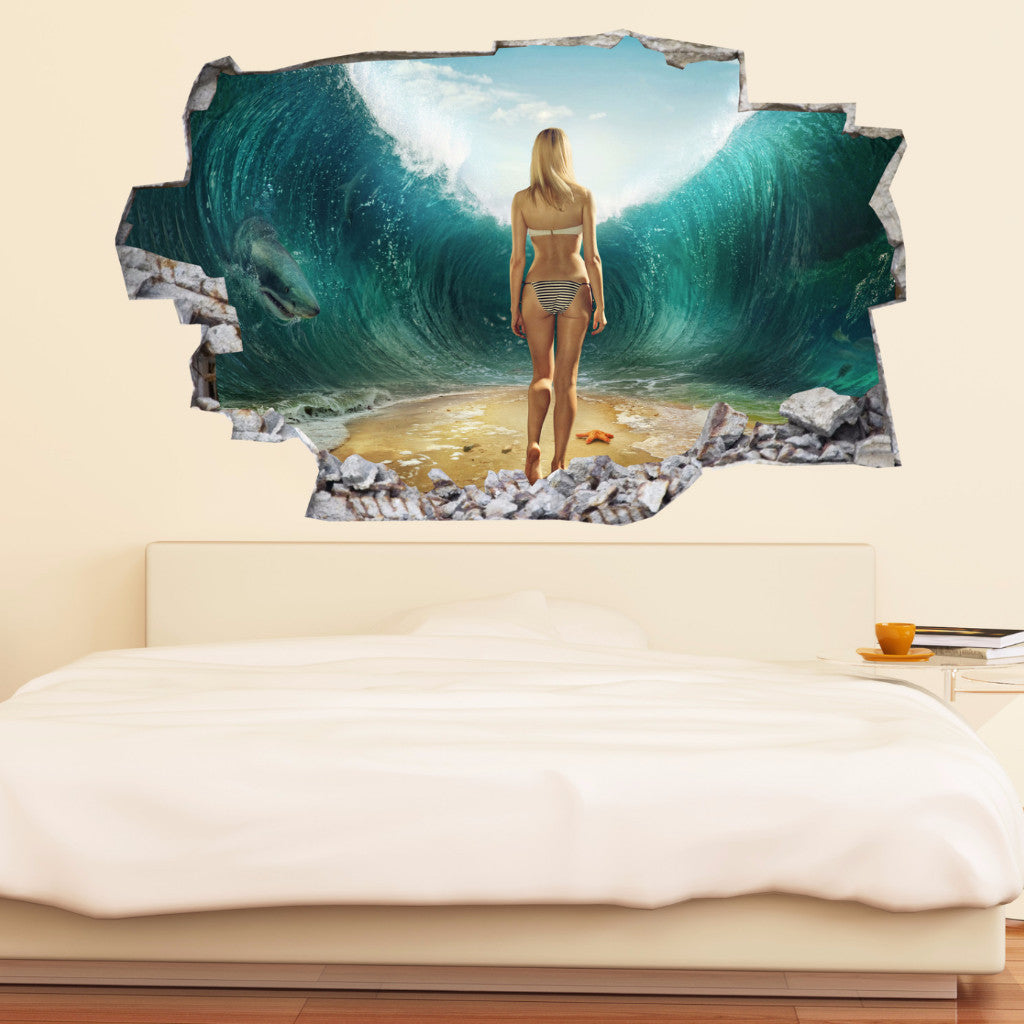 Beach Decals | Beach Wall Stickers | Vinyl 3d | CAB.112